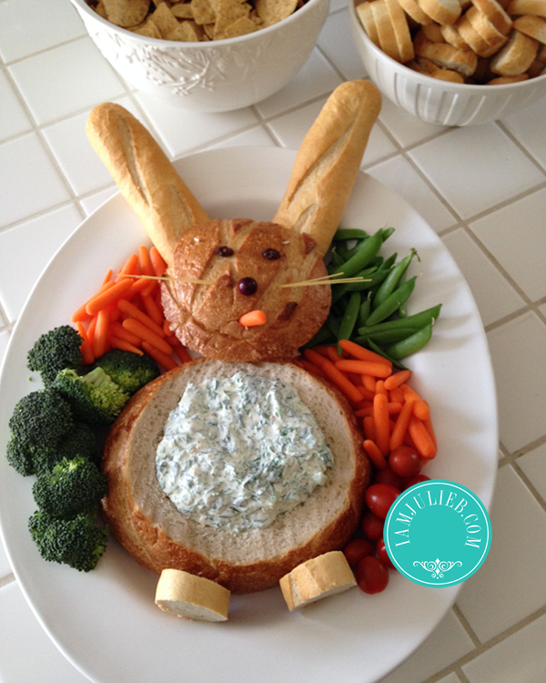 SPINICH DIP EASTER BUNNY