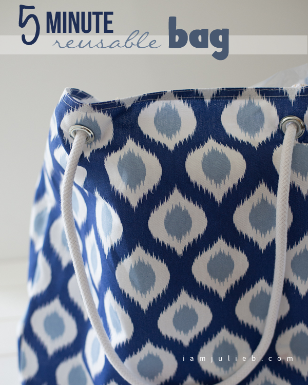 5 MINUTE REUSABLE SHOPPING BAG