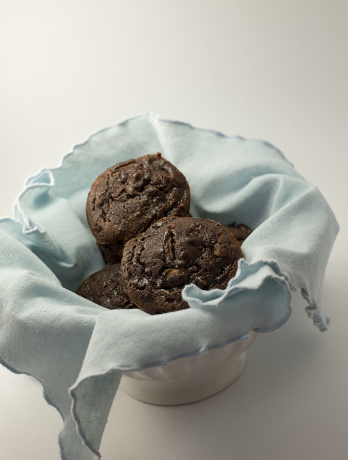 Chocolate Walnut Paleo Muffins