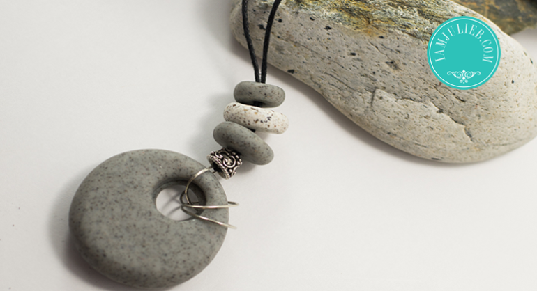 Polymer Stone Clay Necklace