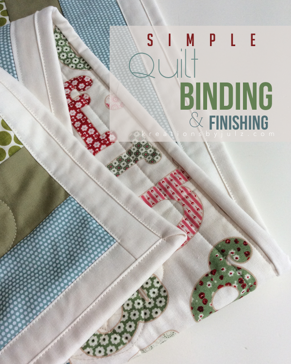 SIMPLE QUILT BINDING FINISHING TUTORIAL