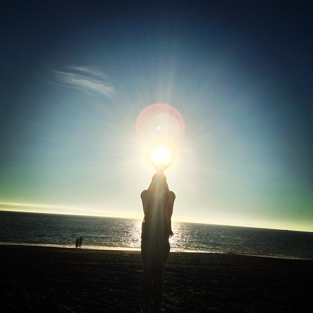 The Sun. #sun #light #beach #california #goatrock