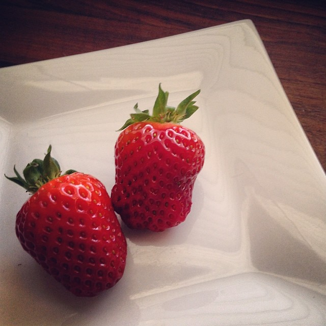 Our first strawberries of the season.. #strawberries #gardening #homegrown