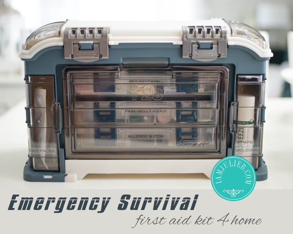 Emergency Survival First Aid For Home | Be prepared for an emergency situation at home by gathering and organizing all your first aid supplies into one easily accessible container.