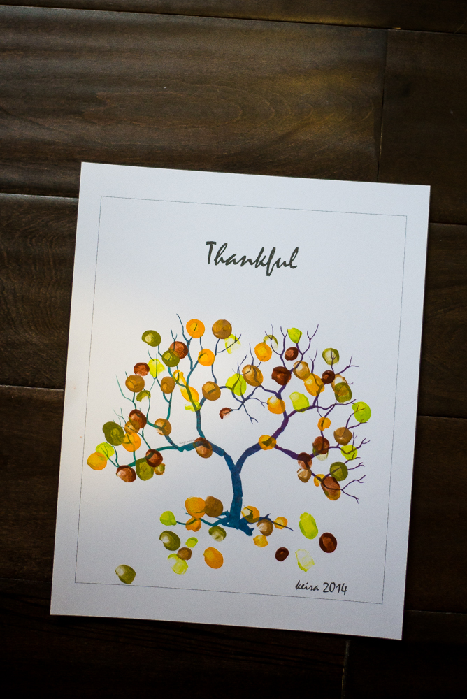 Thankful Thumbprint Tree