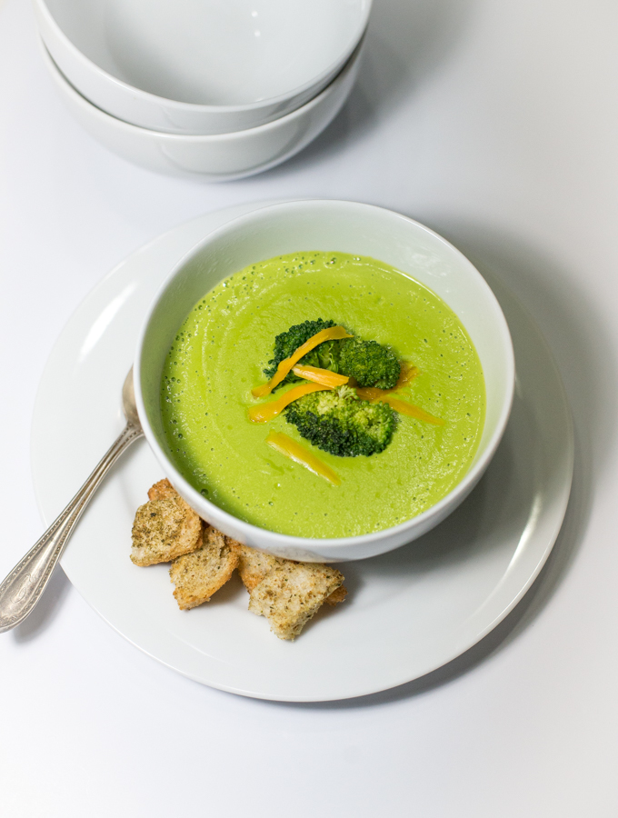 Broccoli Kale Cheese Soup