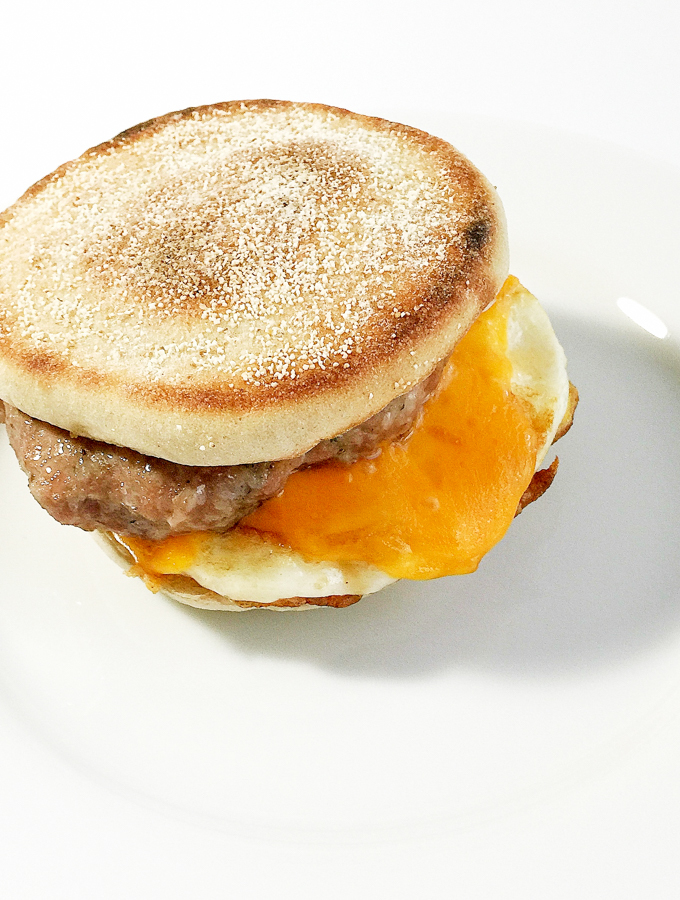 Sausage Egg Breakfast Muffin