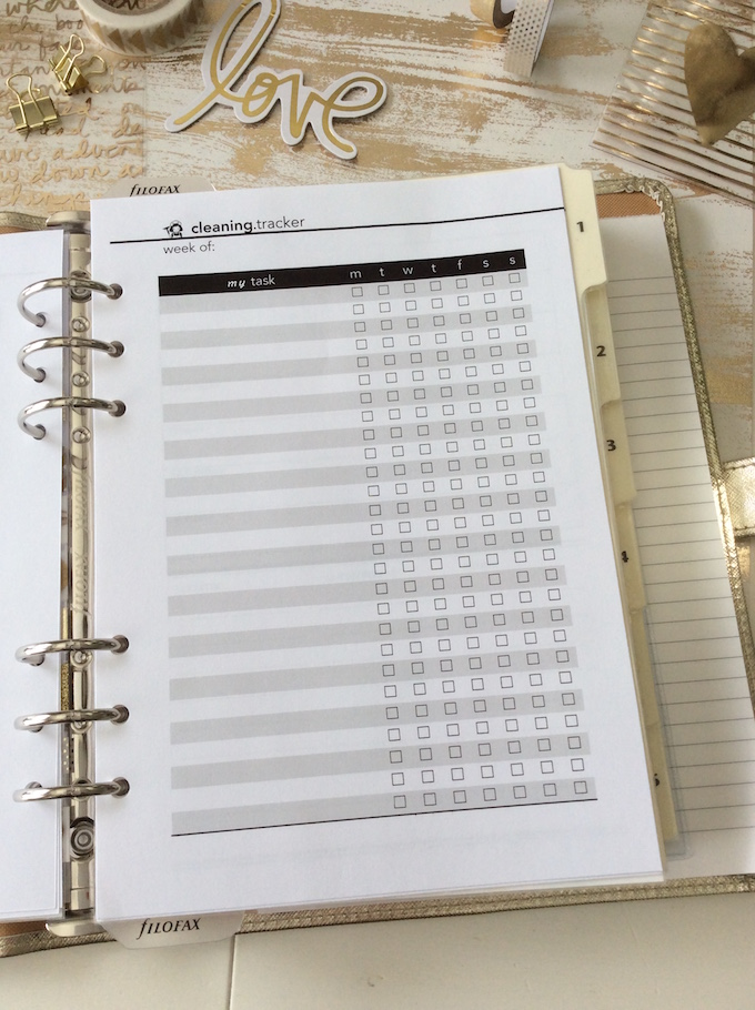A5 Cleaning Tracker insert by iamjulieb