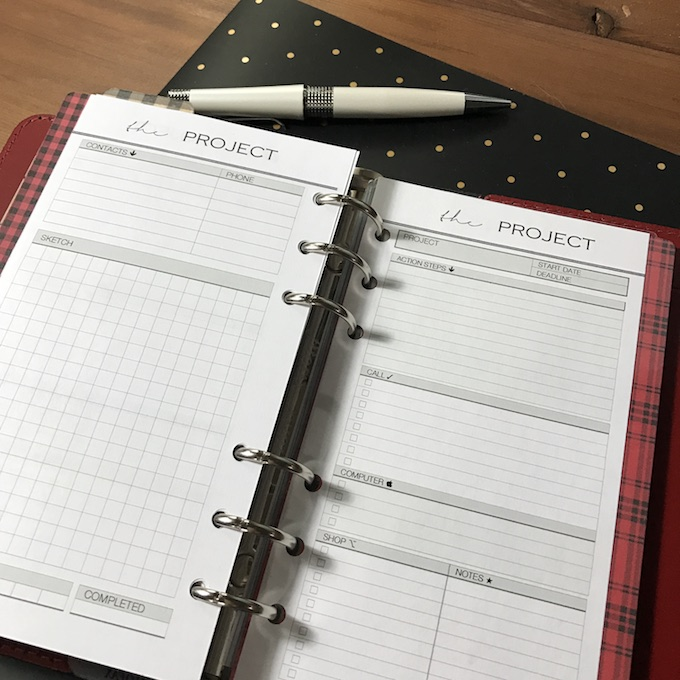 Filofax Personal Project Tracker